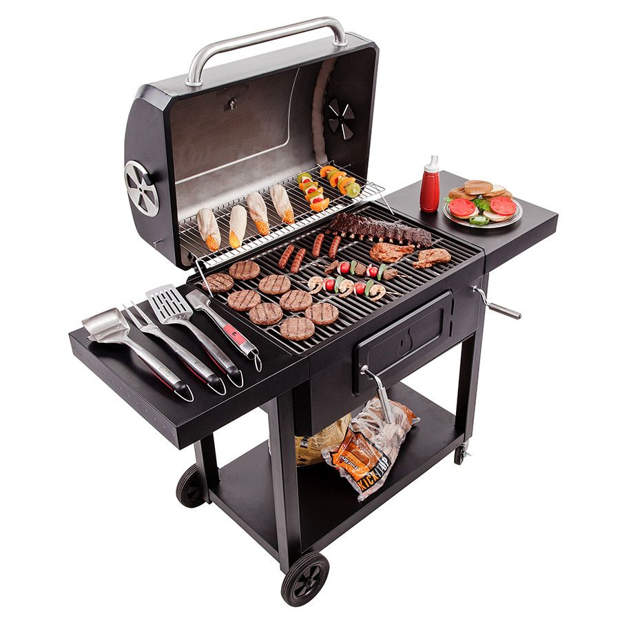 Char Broil 29 8 In Charcoal Grill Lowes Com Outdoor Kitchen Appliances Outdoor Kitchen Bbq Grill Design