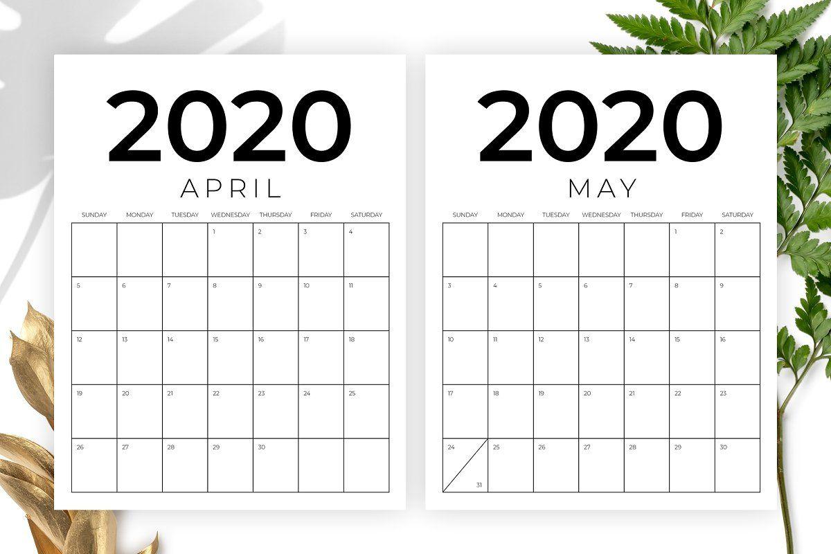 Calendrier Running 2021 Vertical 8.5 x 11 Inch 2020 Calendar