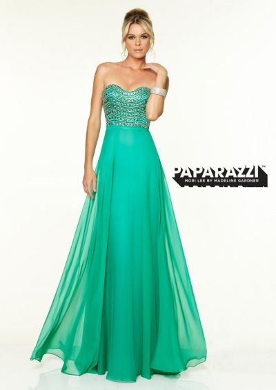 Mori Lee Paparazzi 97090 Flowing Chiffon Evening Dress