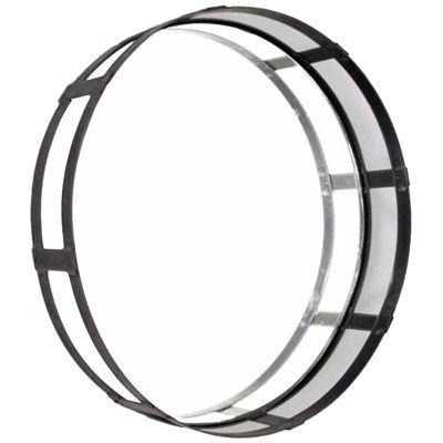 Zentique Decor Recycled Metal Round Mirror @Lonny Magazine Nov 2011