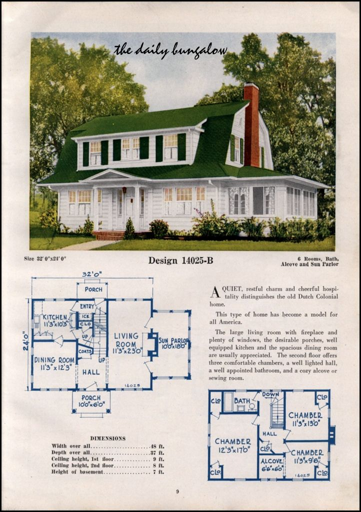 1925 26 C L Bowes House Plans Dutch Colonial Homes Dutch Colonial Exterior Dutch Colonial