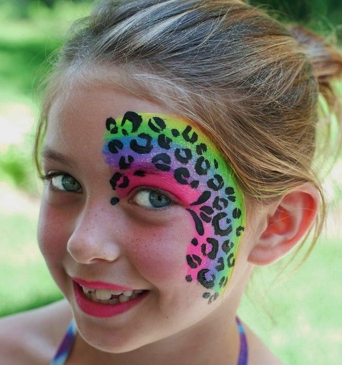 leopard face painting - Google Search