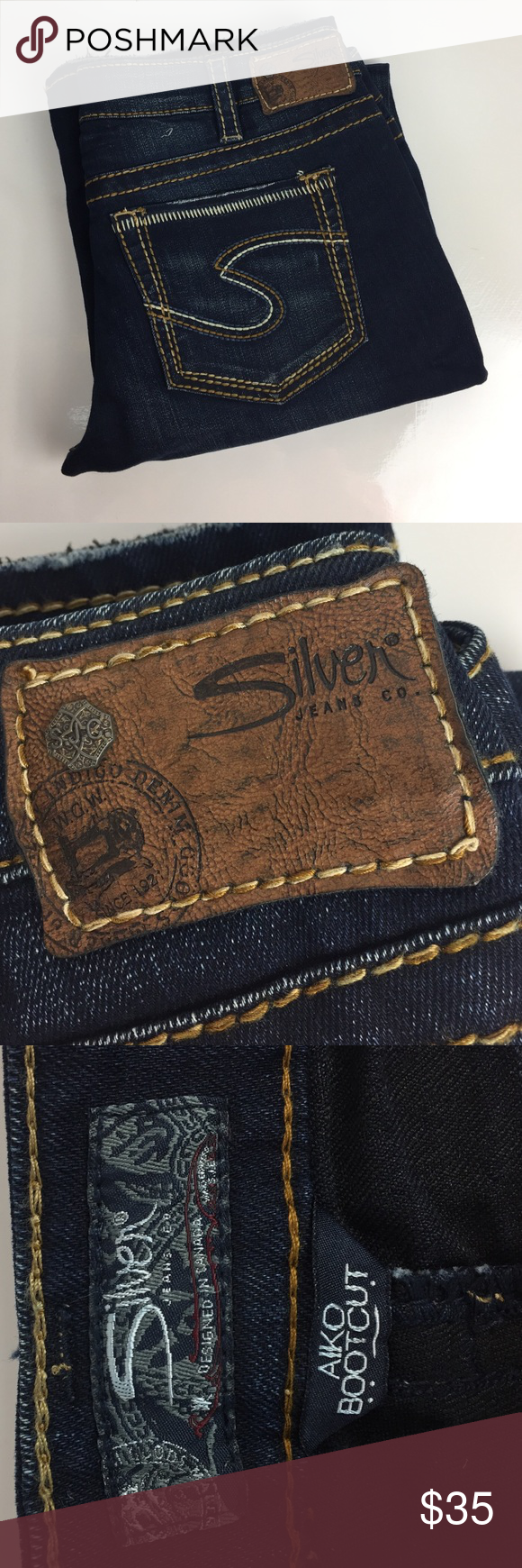 Silver Aiko Bootcut Jeans - W32 L33 These were worn only a few times. In great condition! Silver Jeans Jeans Boot Cut