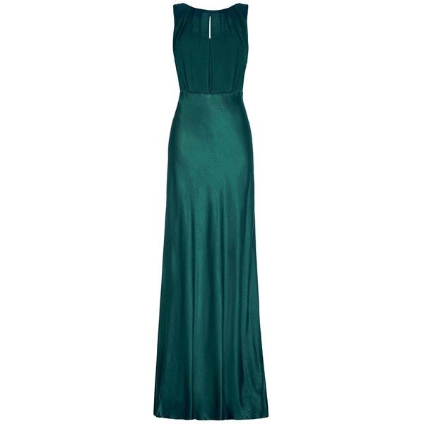 Womens Evening Dresses GHOST Claudia Dress Emerald Sea DTO ($335 ...