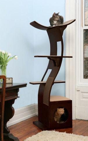 Lotus Cat Tower Modern Pet Furniture Modern Cat Furniture Luxury Cat Tree