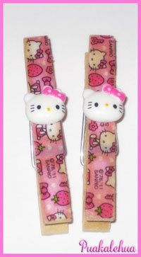 Hello Kitty and Pink Strawberries Altered by kawaiislandgurl72, $3.50