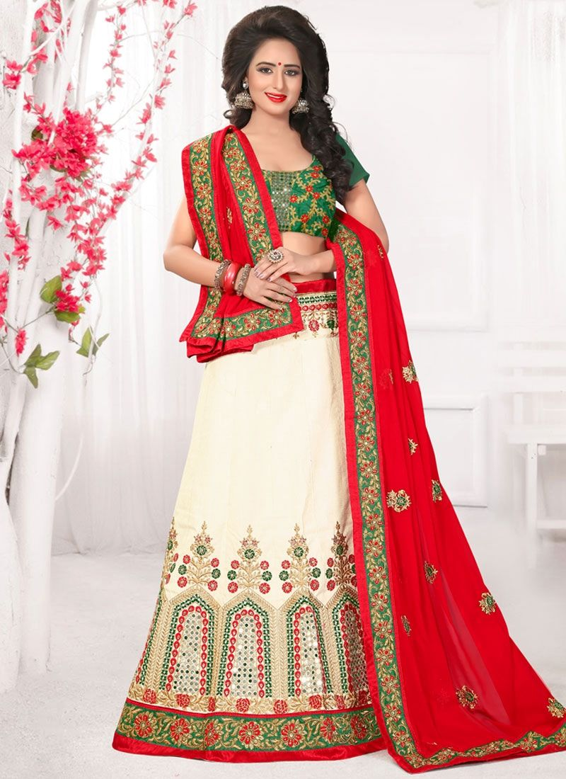 Get exclusive collection and best offers to buy online designer lehenga choli. Buy this pleasance embroidered, patch border and stone work  lehenga choli.