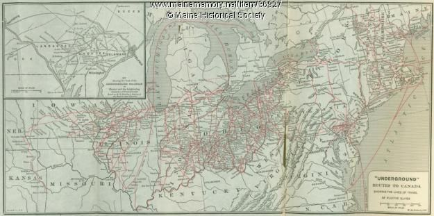 Underground Railroad New York Map.A Map Of Underground Railroad Routes To Canada That Suggests The