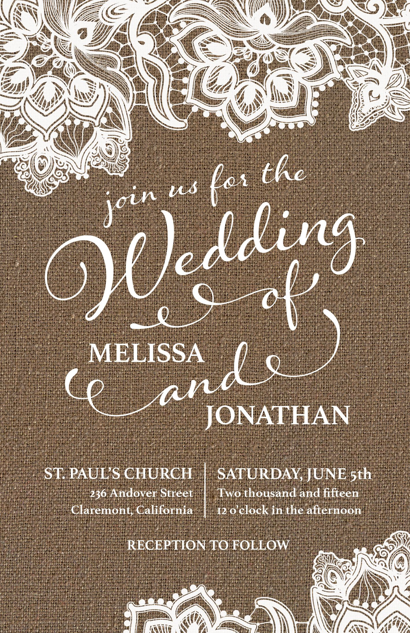Country Rustic Wedding Invitation Vistaprint Wedding Invitations