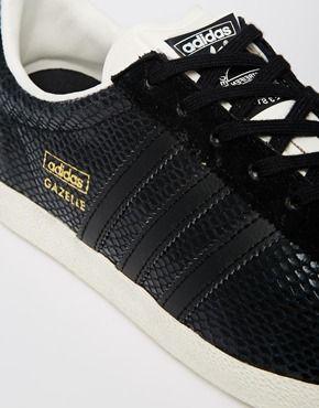Adidas Originals Gazelle Og Black Leather Trainers