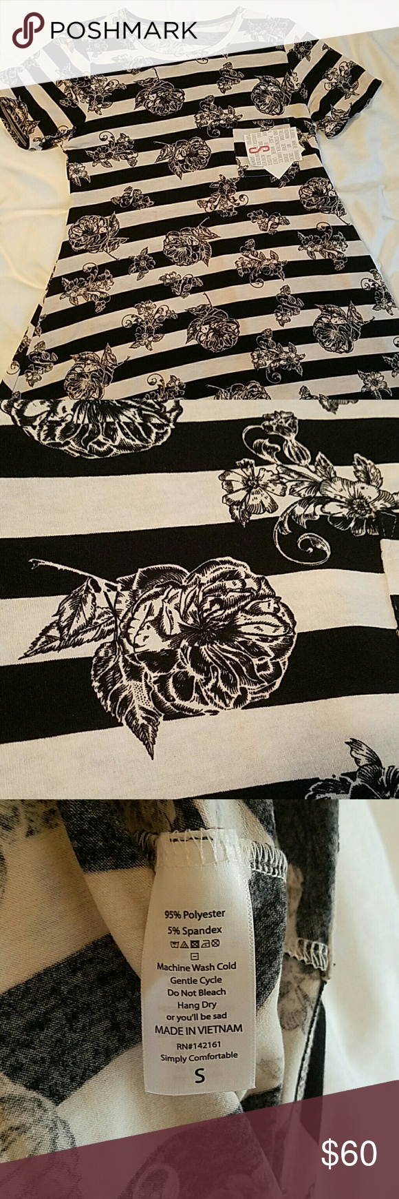 1abc4723ac66df Lularoe Black Stripes And Flowers | Gardening: Flower and Vegetables