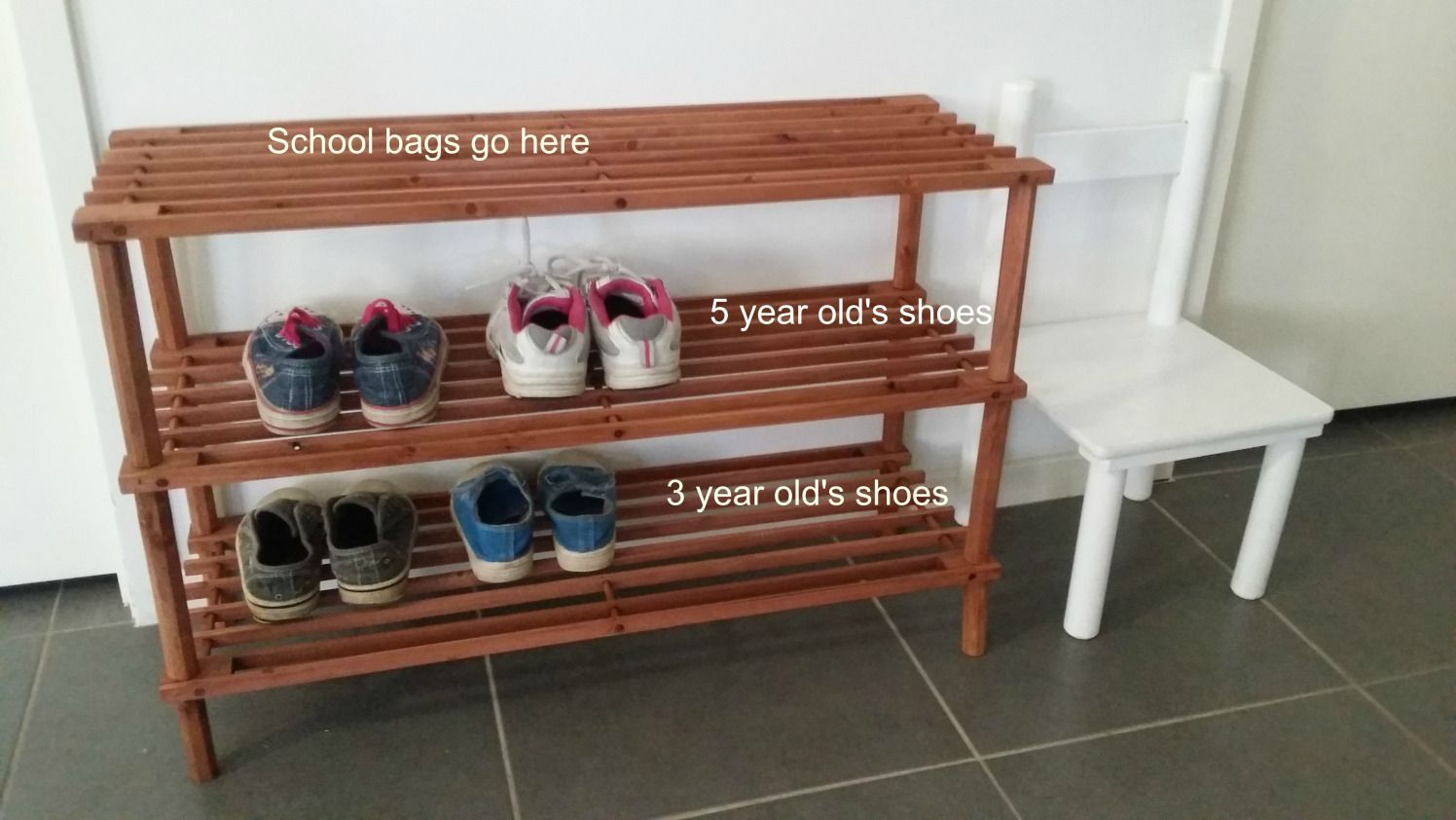 Care Of Self Spaces A Change To My Children S Shoe Storage Area Diy Classroom Montessori Parenting Montessori Classroom