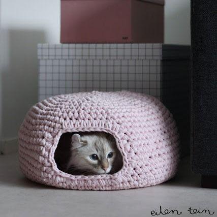Gemütliche Katzenbett Häkelanleitung Stricken Und Häkeln