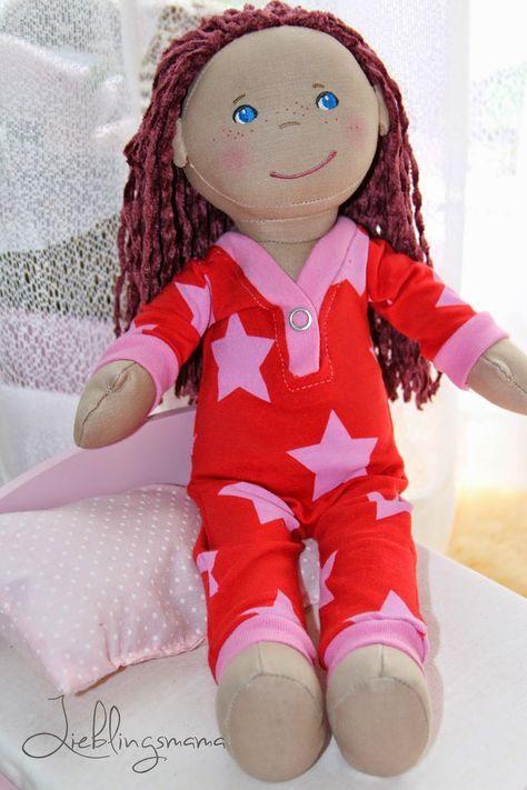 Photo of Kostenloses Schnittmuster und Nähanleitung für einen Puppenpyjama
