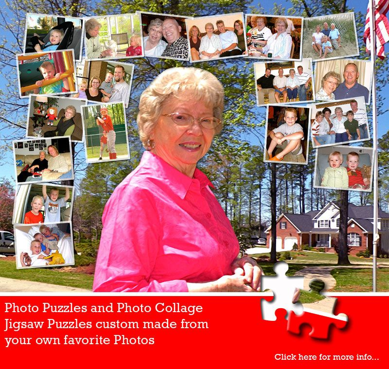 Mother's Day Photo Collage Puzzles are always popular. Personalized with your own images and message, these gifts are as unique as they come. Jigsaw2order.com