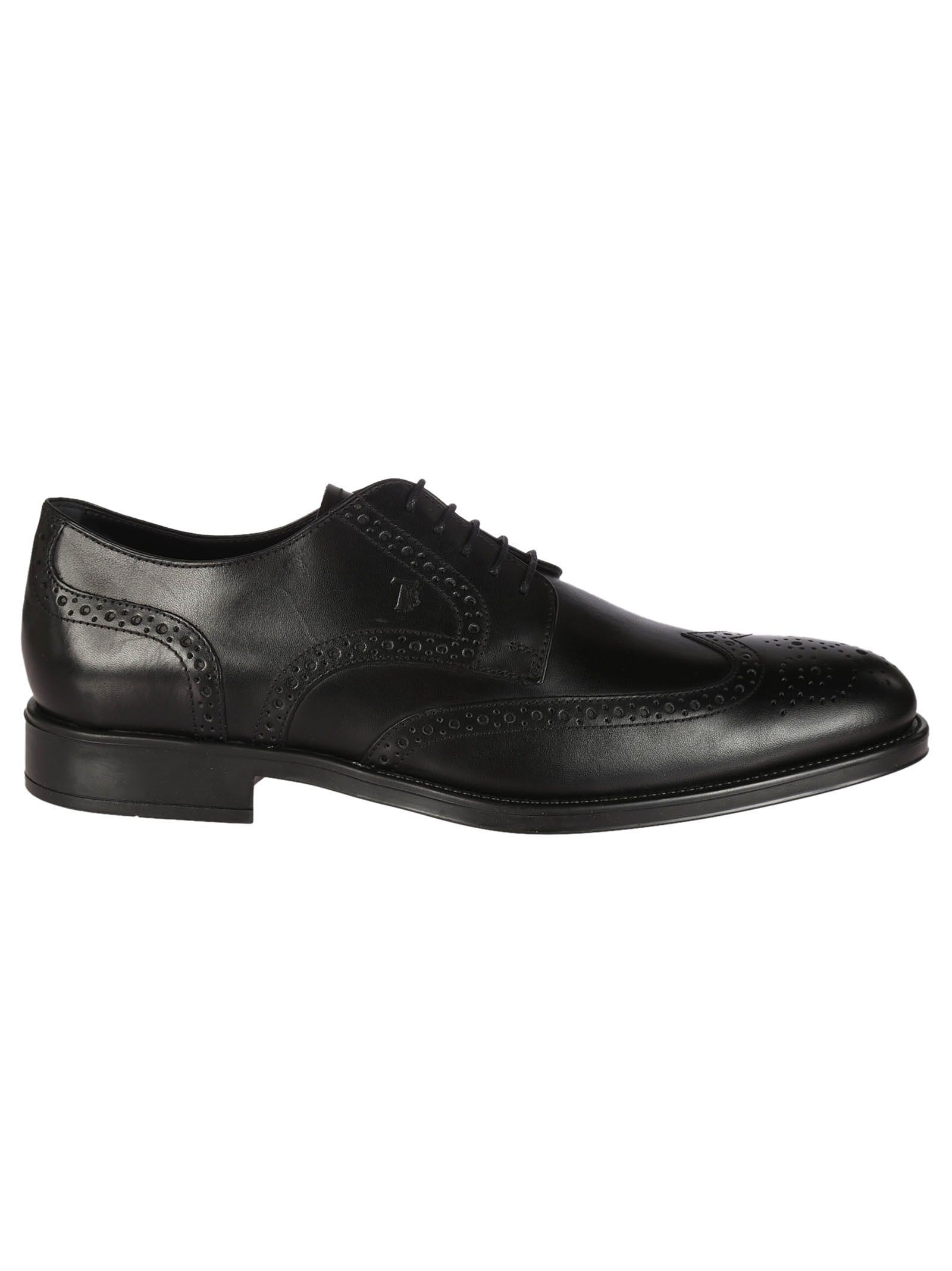 Classic Leather Derby Shoes - 7.5 / black Tod's eW3GUE