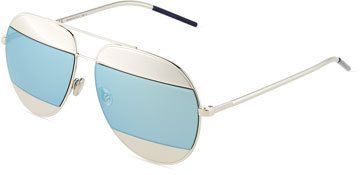 1c6949244cab3 Dior DiorSplit Two-Tone Metallic Aviator Sunglasses