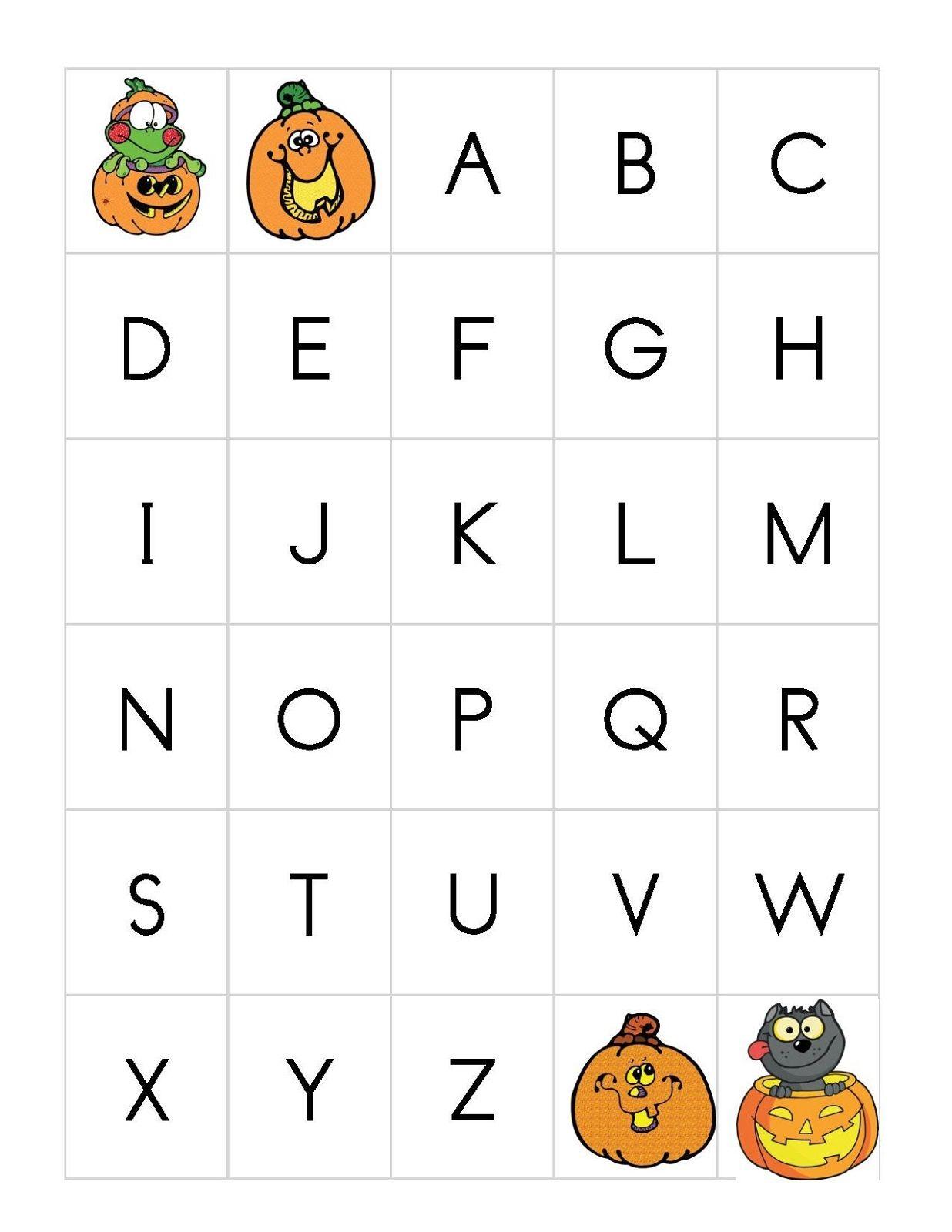 Printable Halloween Letter For Preschoolers