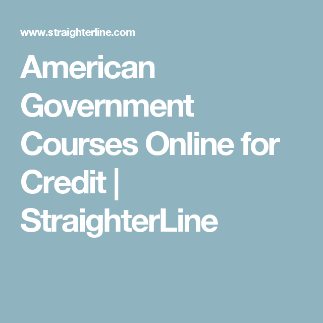 American government courses online for credit straighterline american government courses online for credit straighterline fandeluxe Images