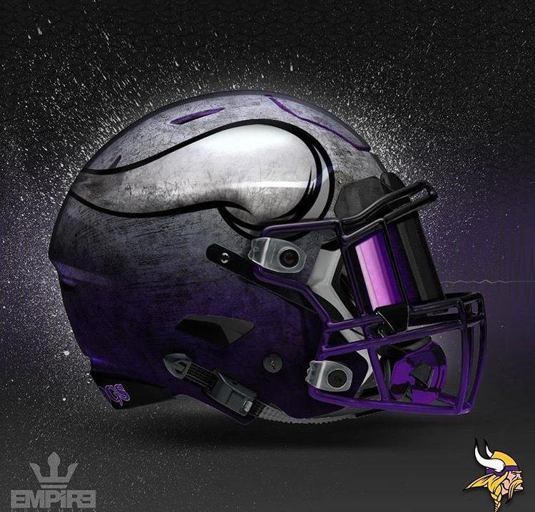 minnesota vikings concept design football helmet