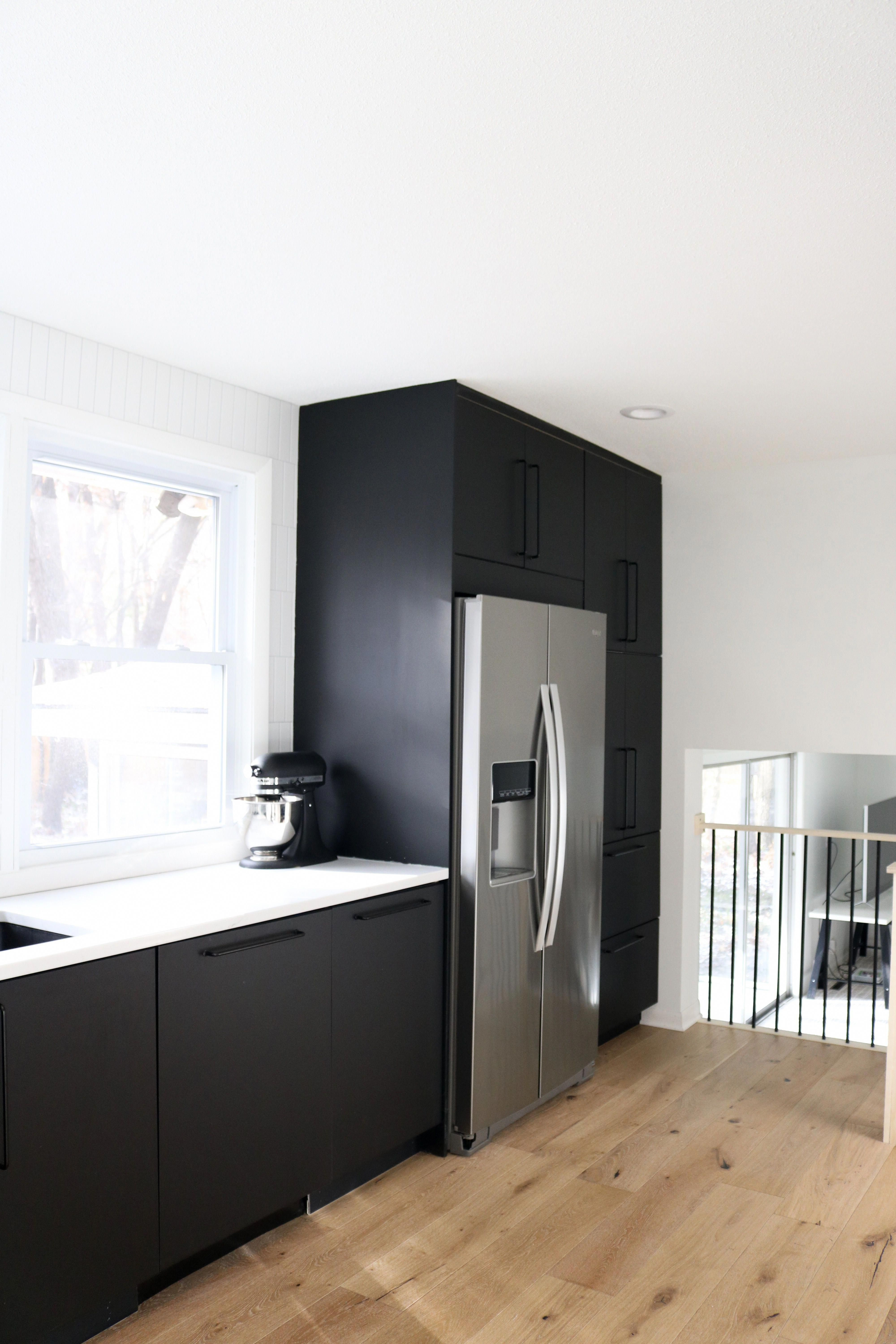 Ikea Kungsbacka Black Kitchen Cabinets Full Review Of Ikea Kitchen And New Matte Ikeakitchen In 2020 Black Ikea Kitchen Black Kitchen Cabinets Ikea Cabinets