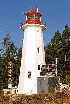 Cape Mudge Lighthouse is located at the south end of Quadra Island, BC © M.K. Mitchell