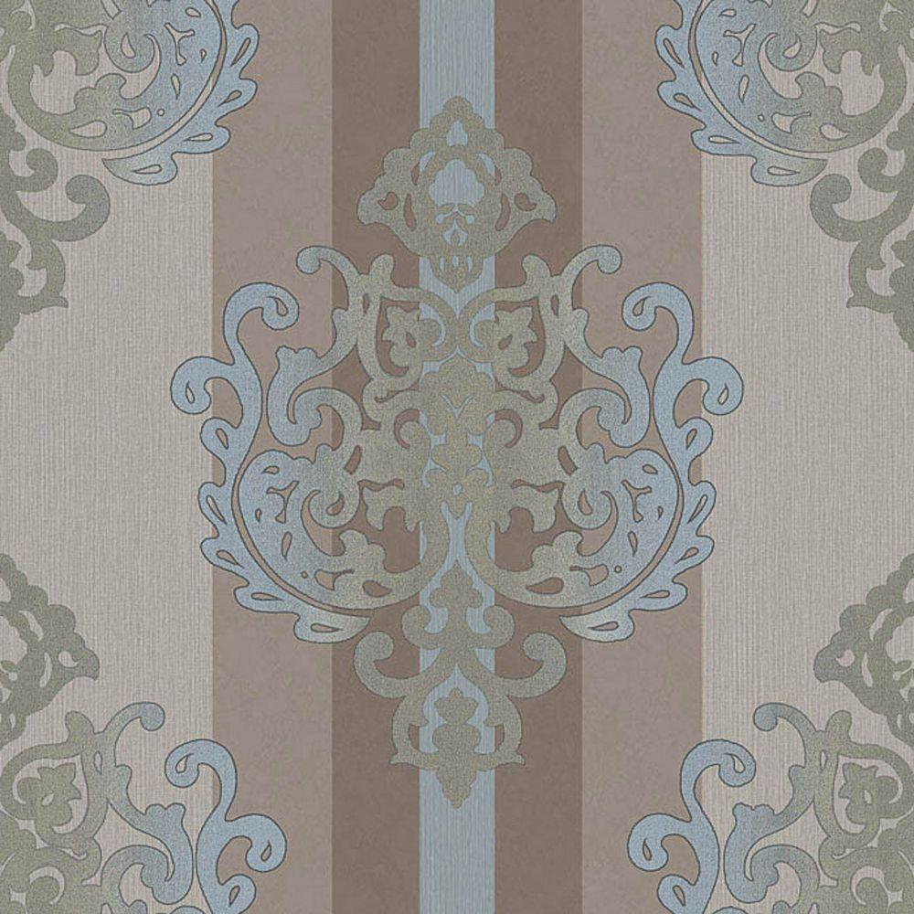 rasch tapete deha 006426 rasch textil vinyltapete ornament braun t rkis glitzer in heimwerker. Black Bedroom Furniture Sets. Home Design Ideas