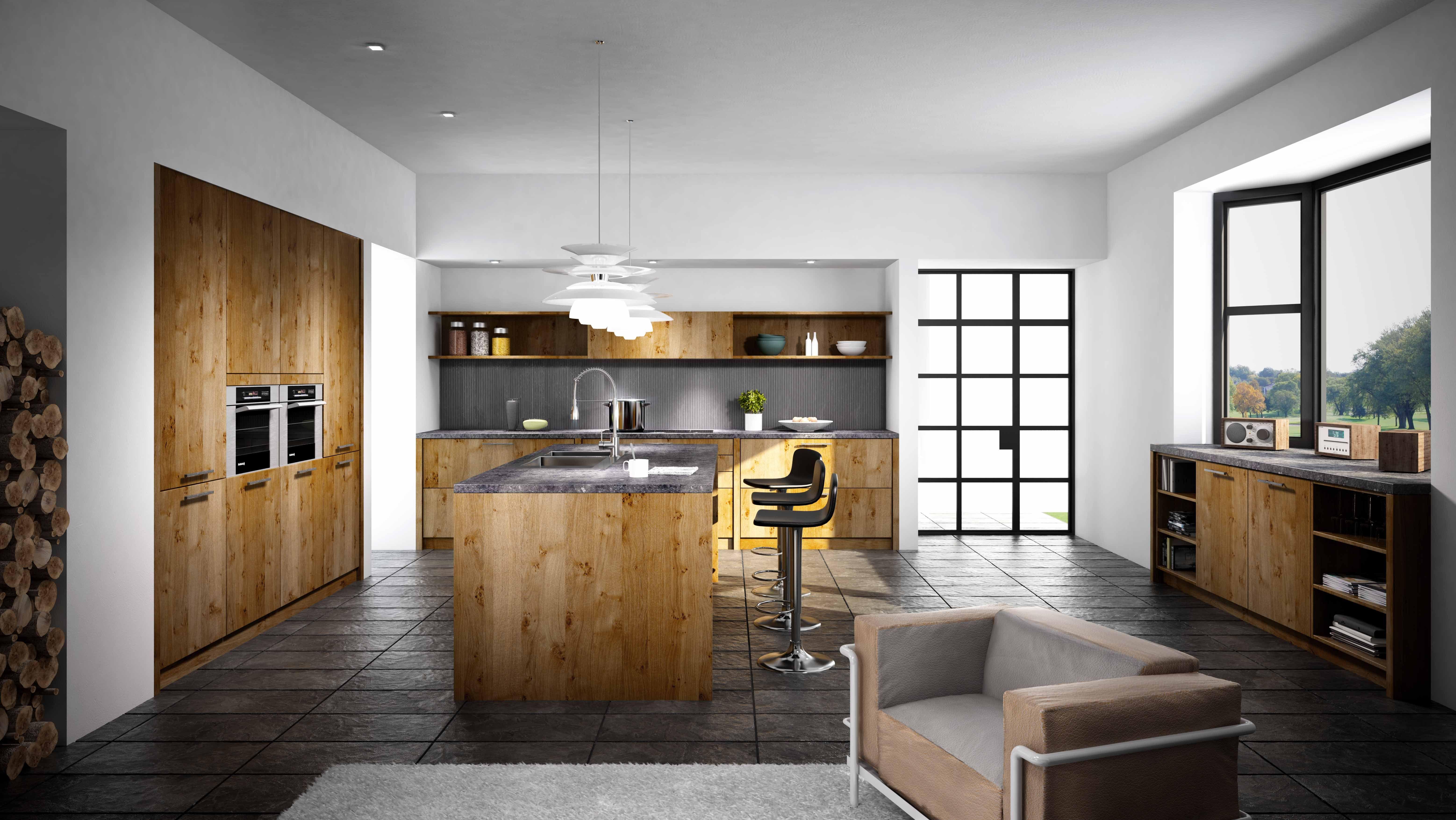Warme en karaktervolle keuken type artwood in de kleur wild