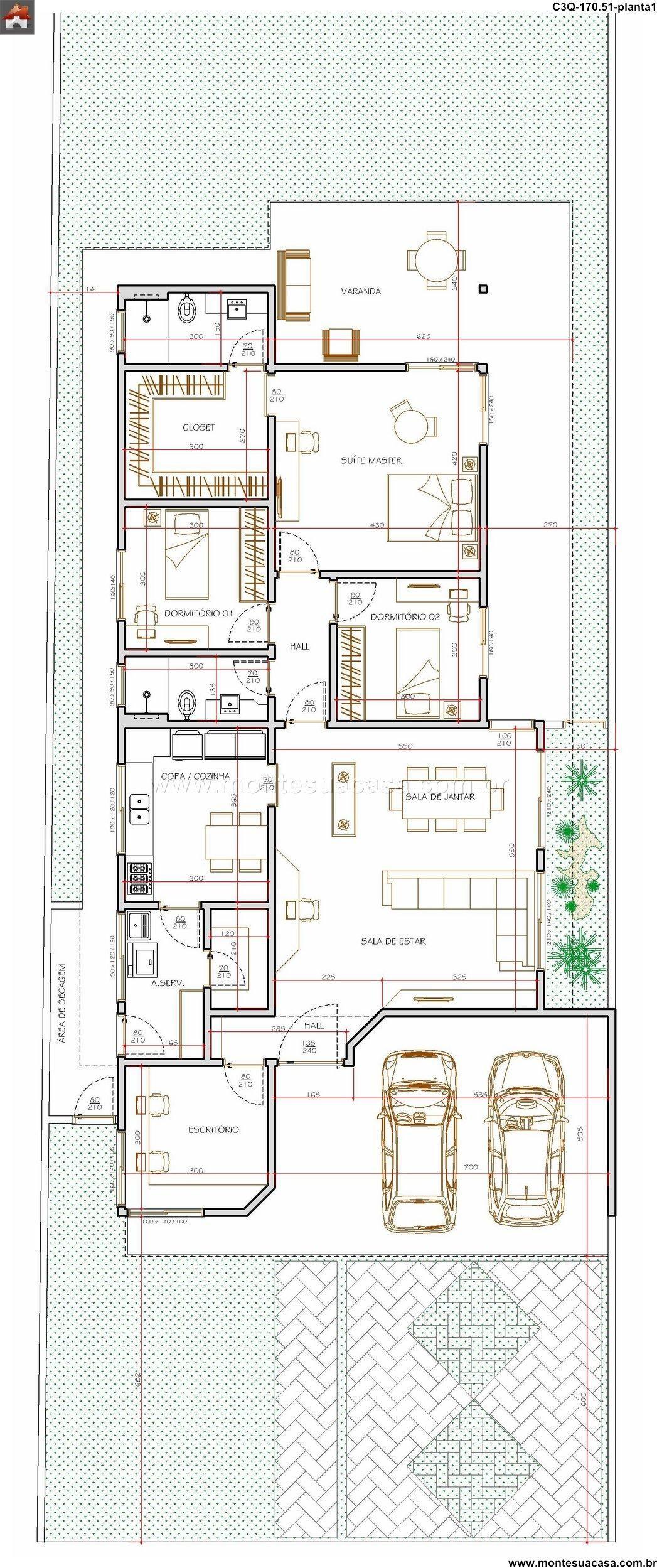 Casa 3 quartos monte sua casa gostei for Casa moderna ud