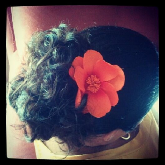 with flowers in my hair #howiroll