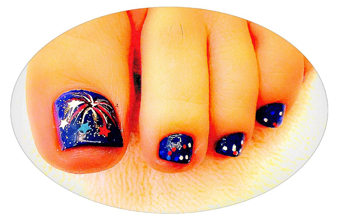 Nail Studio By Tom 4th of July Toes Nail Art By Tom Long Nguyen ...