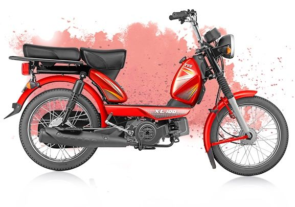 Tvs Xl 100 4 Stroke Launched At Inr 29 539 Tvs Fuel Economy