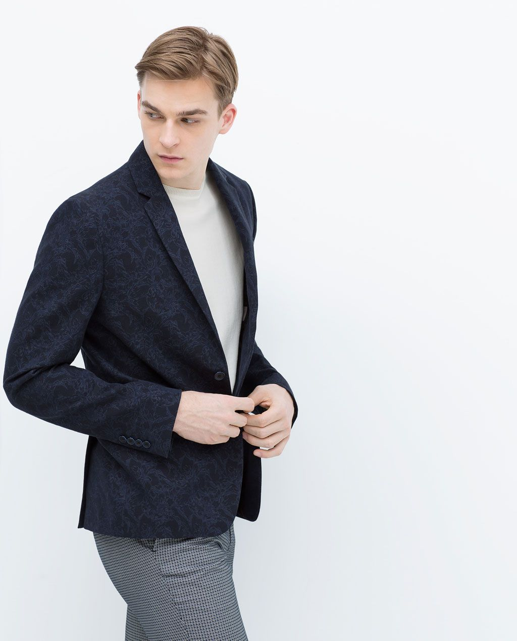 de8d664ff3 Image 1 of FLORAL JACQUARD JACKET from Zara Zara Man, Fashion Forever, Male  Figure