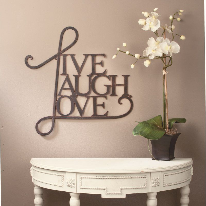 Live laugh love wall decor metal