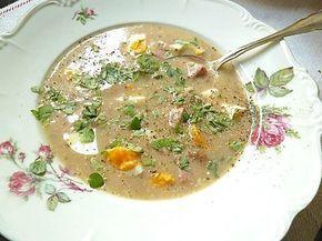 Zurek - Traditionelle polnische Suppe aus Sauerteig