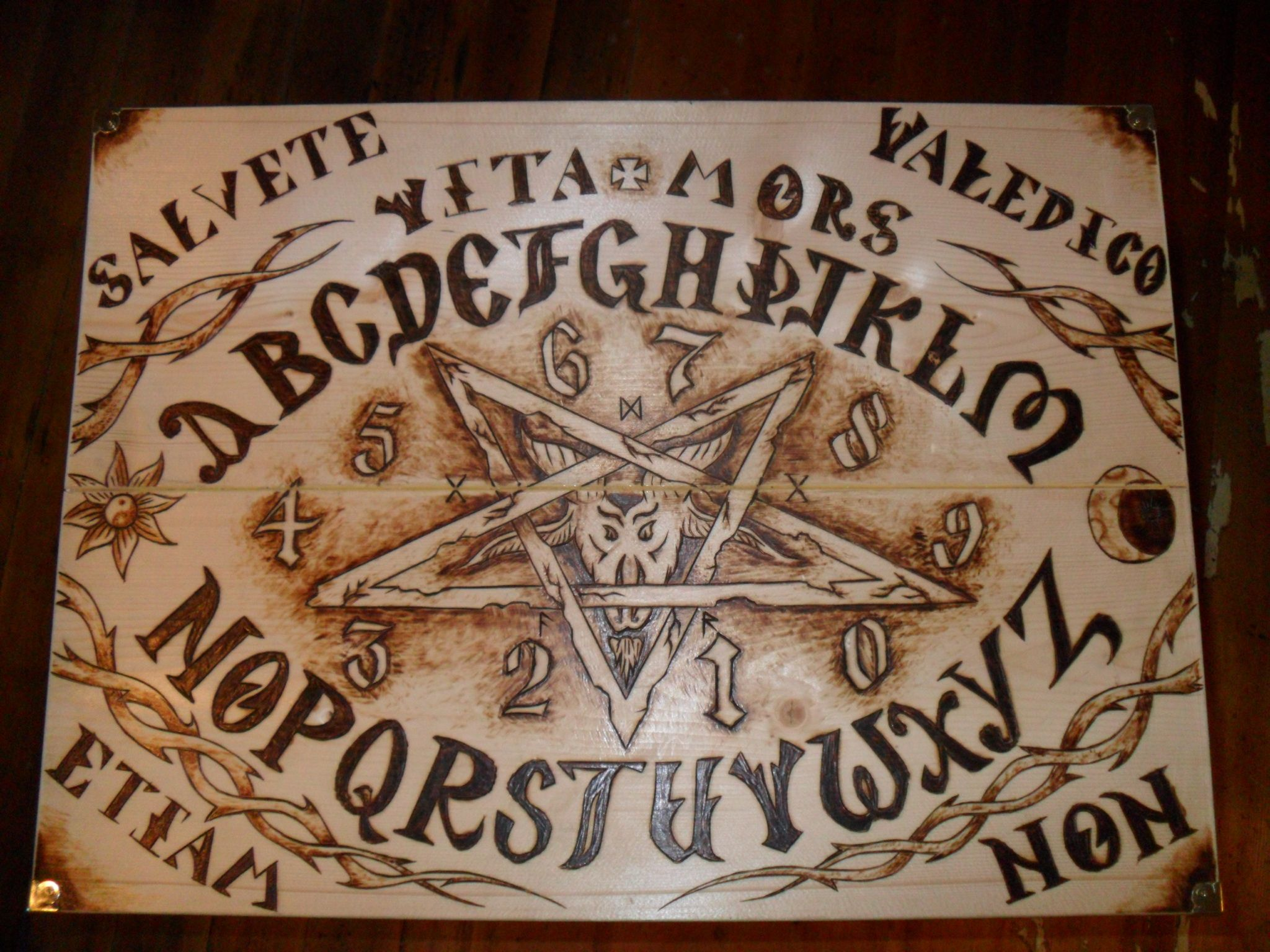 custom design wood burned ouija board other projects i ve done