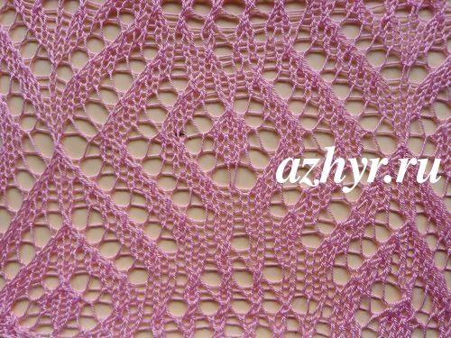 красивые ажурные схемы вязания спицами