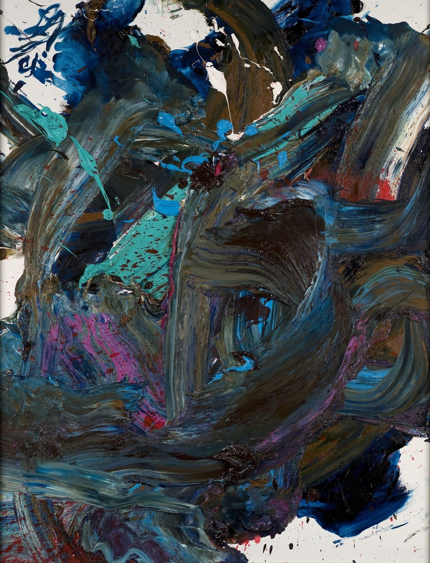 Kazuo Shiraga Kazuo Shiragas oil paintings were created by dripping paint onto a