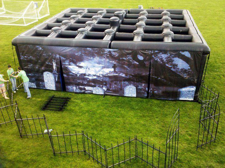 Diy haunted house maze