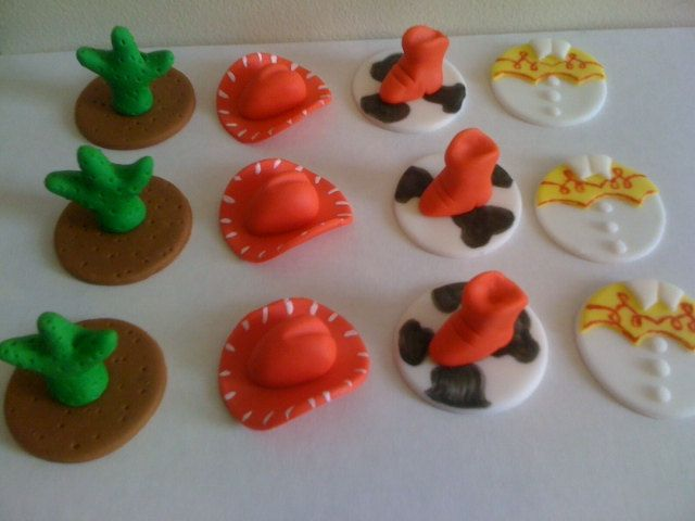 Cowgirl Cupcake toppers. $24.00, via Etsy.