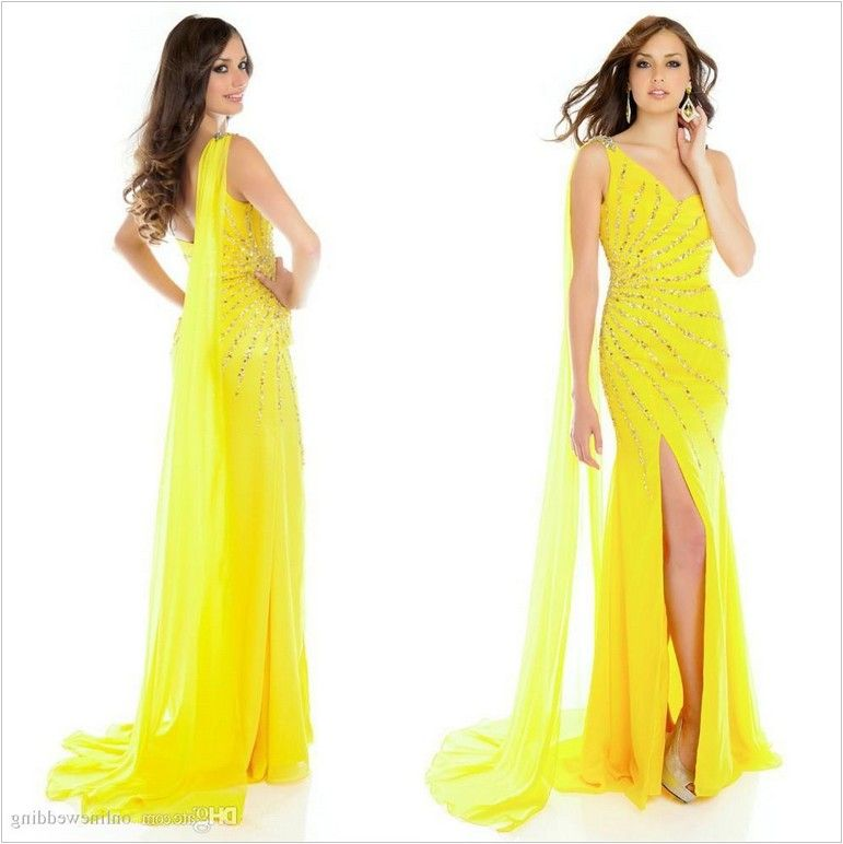 Yellow Evening Gowns Wedding - MSMBE.Org | Msmbe | Pinterest | Gown ...