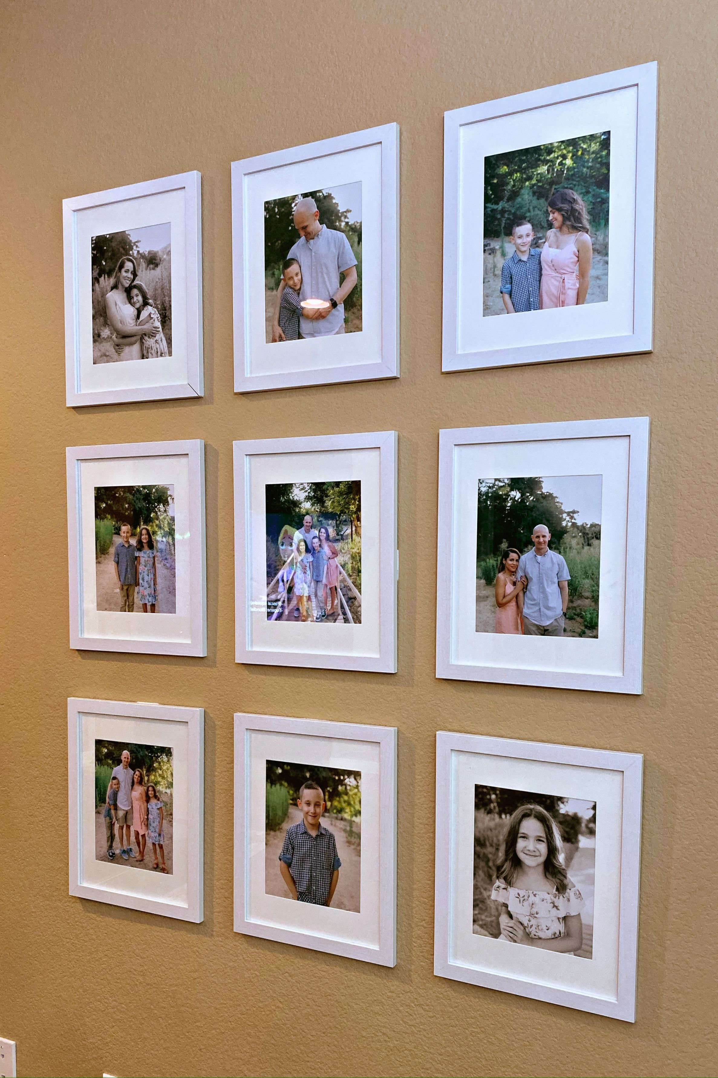 Family Photo Wall Family Photo Wall Photo Wall Wall