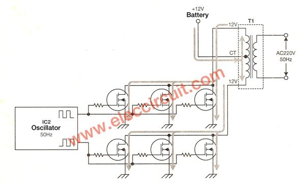 500W power inverter circuit using SG3526-IRFP540 | 1 | Circuit, Diy