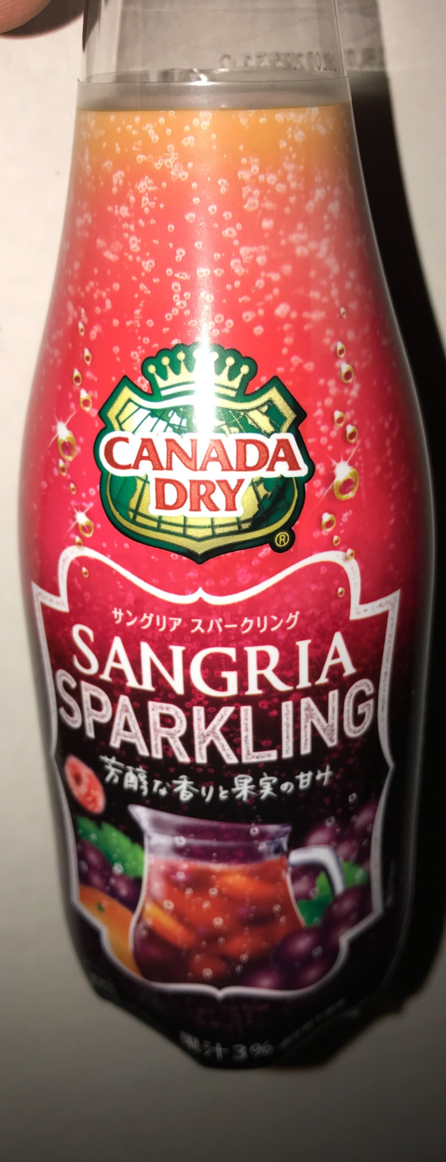 Canada Dry sangria sparkling from Japan in 2019 Non