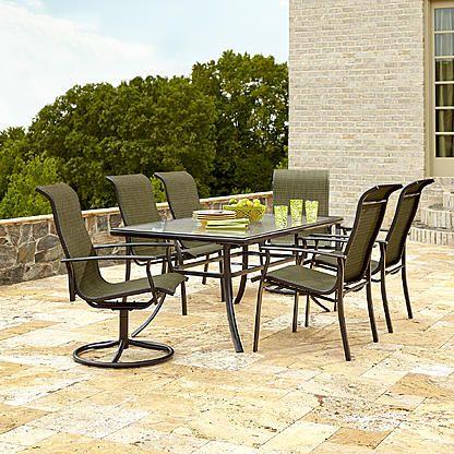 Garden Oasis Harrison 7 Piece Dining Set in Green Gardens and