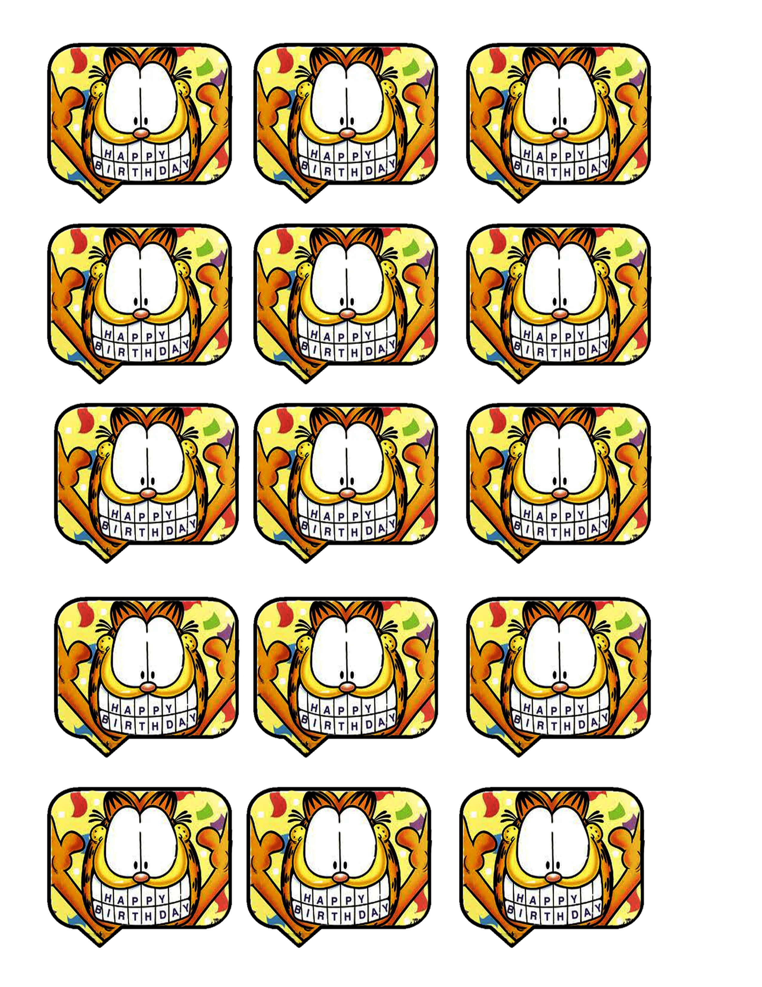 804e467e9396c2f297d3f3b01edd09e2 2550x3300 Pixels Garfield Birthday Happy Printable B