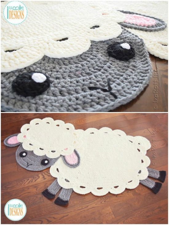 Crochet Animal Rugs By Irarott Etsy Best Ideas The Whoot Crochet Nursery Rug Crochet Rug Patterns Animal Rug