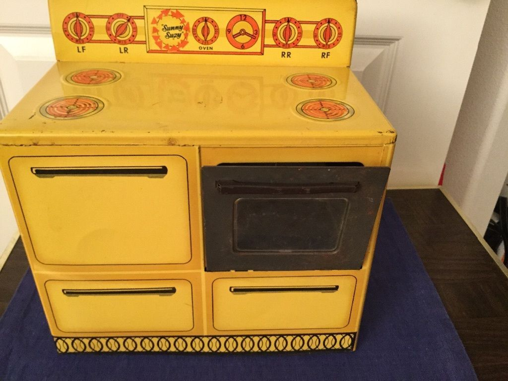 Antique Child S Metal Sunny Suzy Stove Ebay Toy Kitchen Set Toy Kitchen Antique Toys