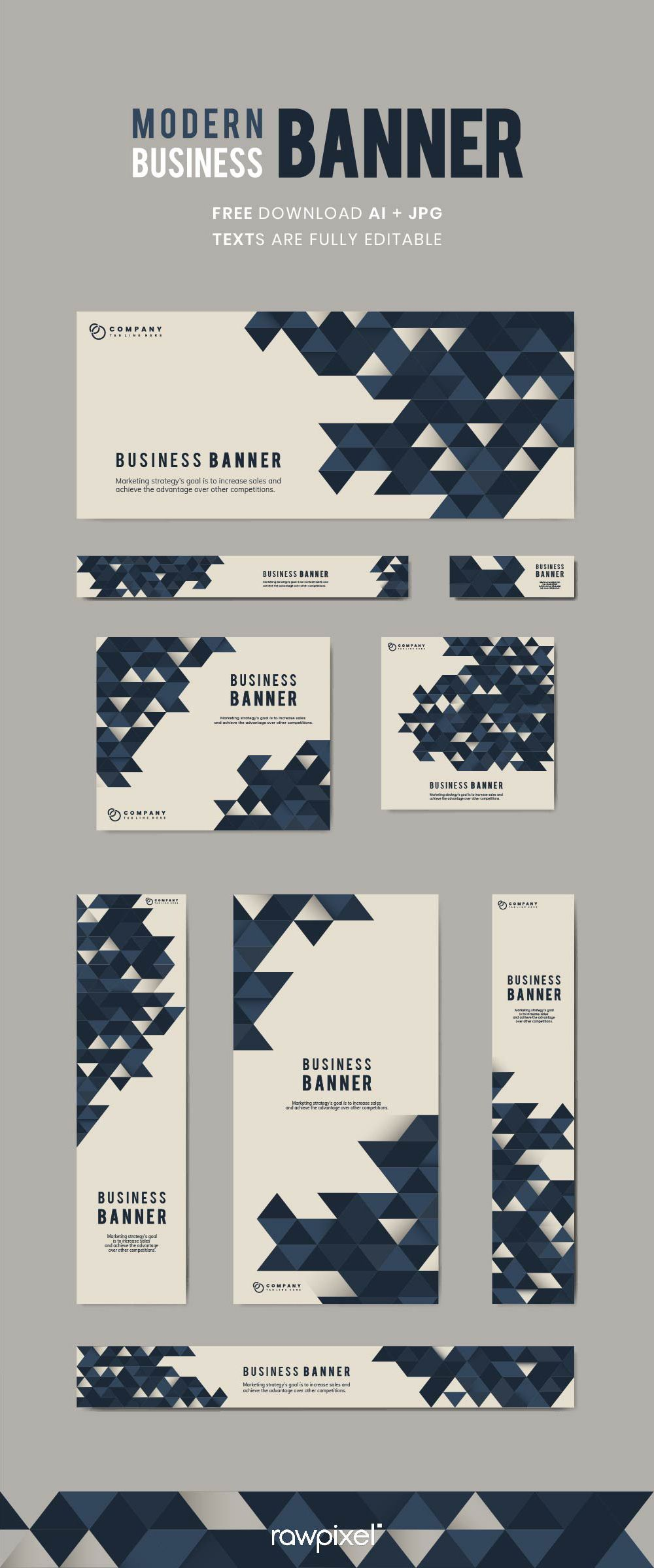 Download Beautiful Free Royalty Free Geometric Background Banner