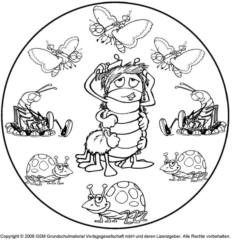 mandala zum ausdrucken tiere | ausmalbildkostenlos.com | Pinterest